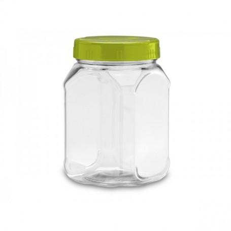 BARATTOLO PLASTICA VUOTO 0,7 lt in PET con coperchio bianco